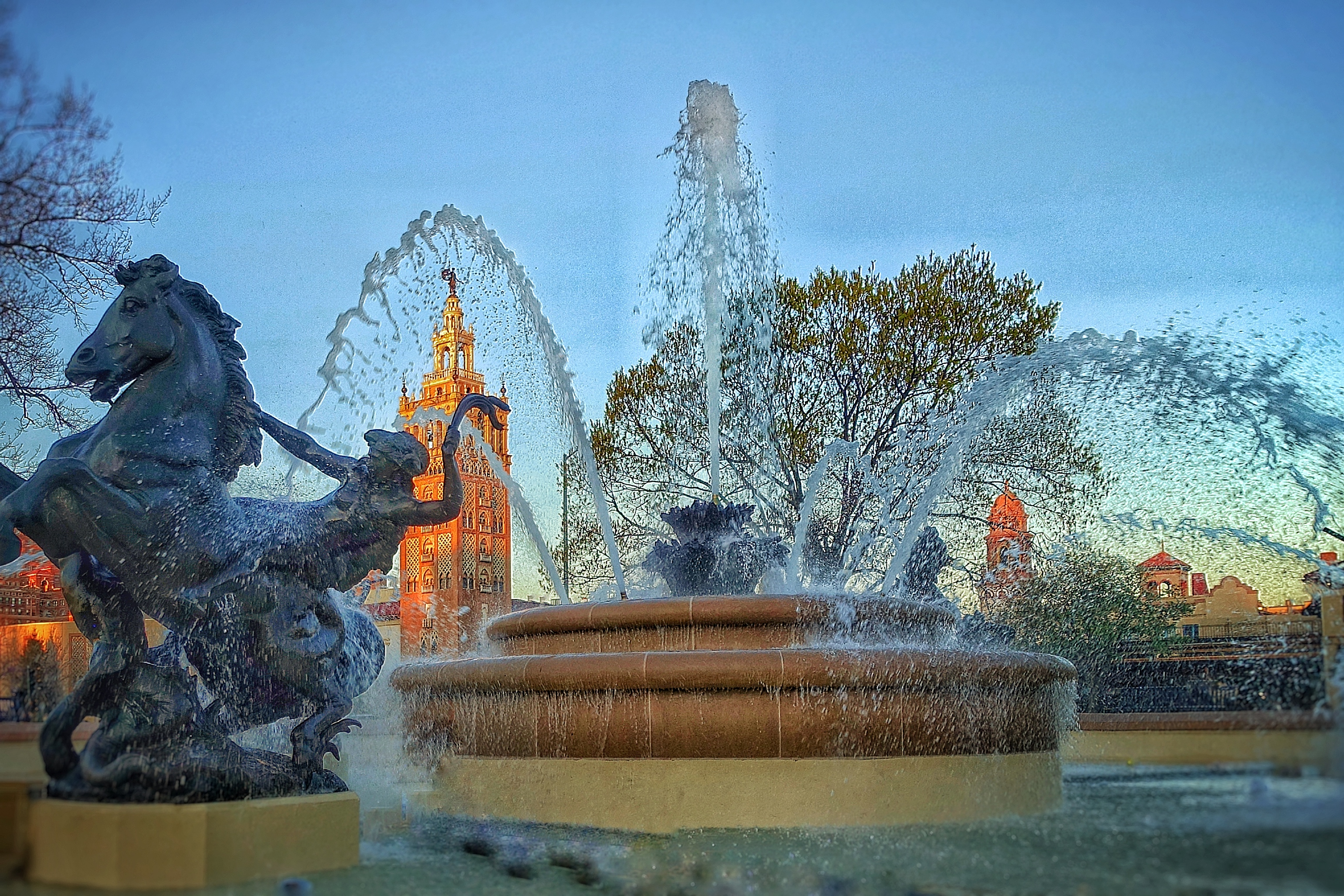 Nichols Fountain at sunrise-ZF-5322-43881-1-001-023