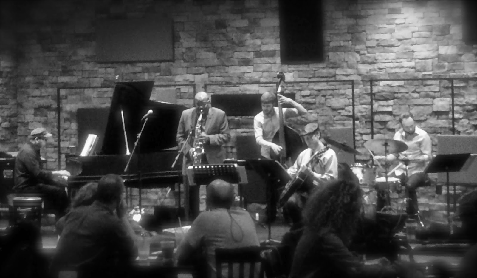 Dino Massa Kansas City Quintet in concert at Take 5 Coffee + Bar (Photograph: Bill Brownlee)